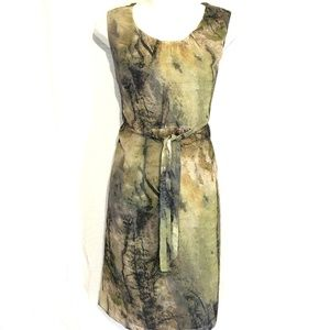 COLDWATER CREEK Lined Green Knee Length Dress ~ 6